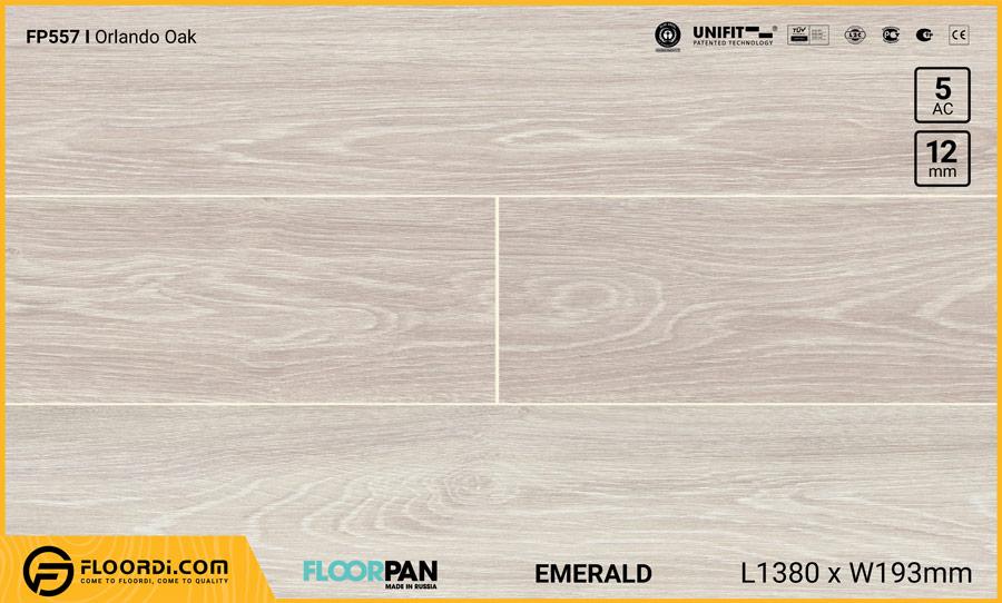 Sàn gỗ Floorpan FP557 Orlando Oak – 12mm – AC5