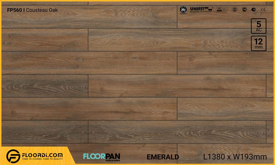 Sàn gỗ Floorpan FP560 Cousteau Oak – 12mm – AC5