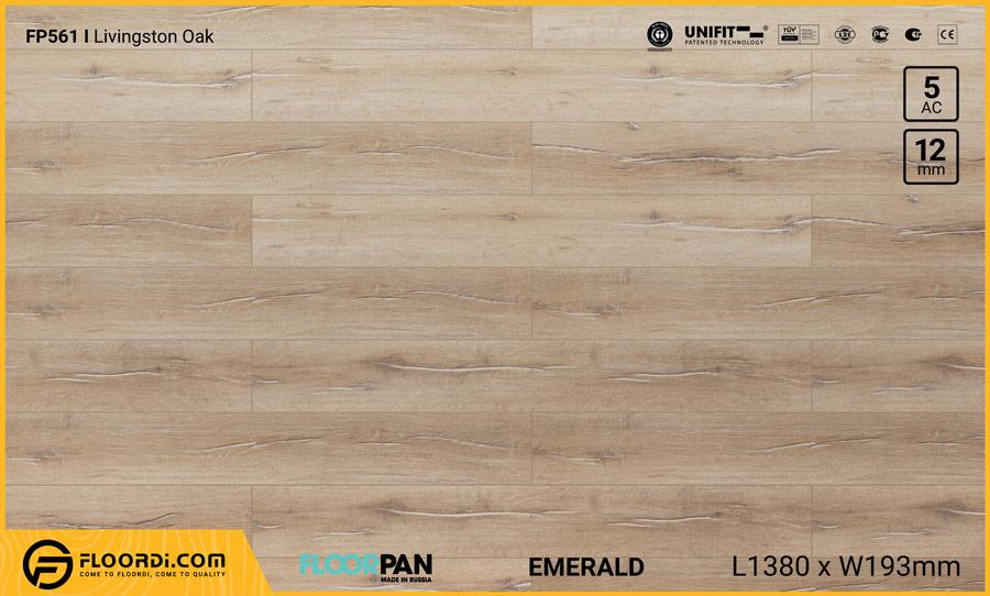 Sàn gỗ Floorpan FP561 Livingston Oak – 12mm – AC5