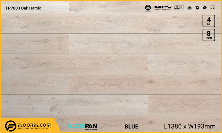 Sàn gỗ Floorpan FP700 Oak Harold – 8mm – AC4