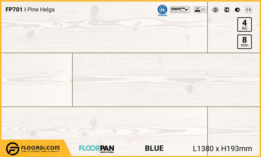 Sàn gỗ Floorpan FP701 Pine Helga – 8mm – AC4