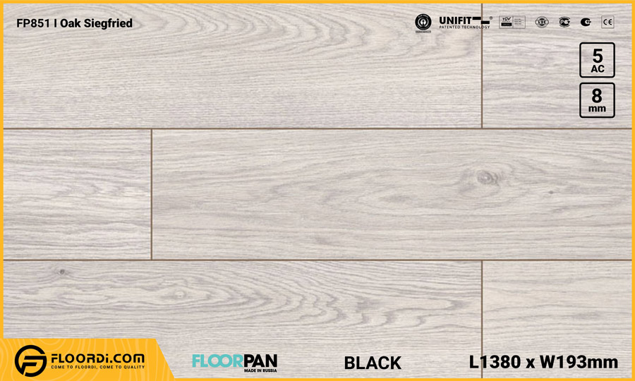 Sàn gỗ Floorpan FP851 Oak Siegfried – 8mm – AC5