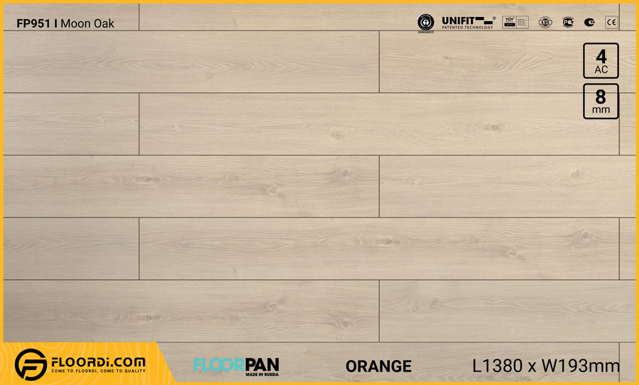 Sàn gỗ Floorpan FP951 Moon Oak – 8mm – AC4