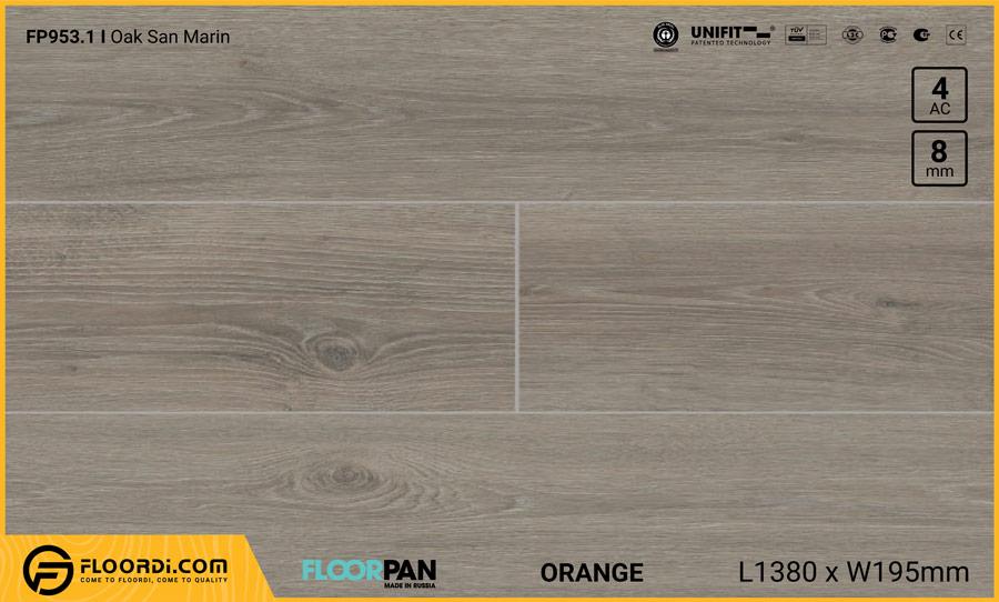 Sàn gỗ Floorpan FP953.1 Oak San Marin – 8mm – AC4