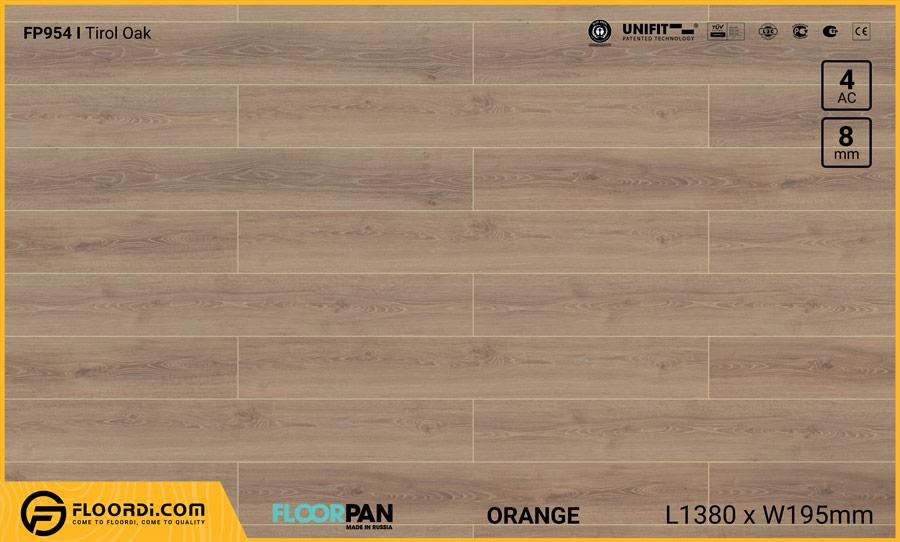 Sàn gỗ Floorpan FP954 Tirol Oak – 8mm – AC4