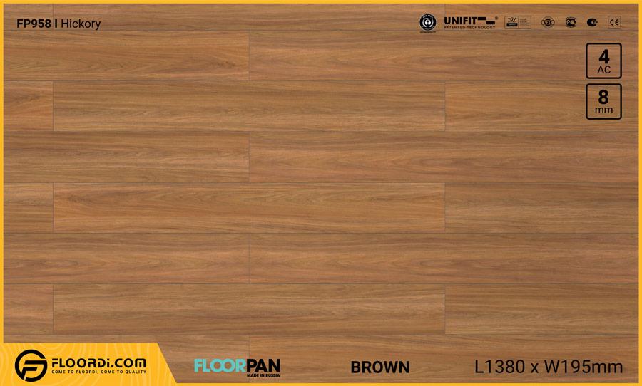 Sàn gỗ Floorpan FP958 Hickory – 8mm – AC4
