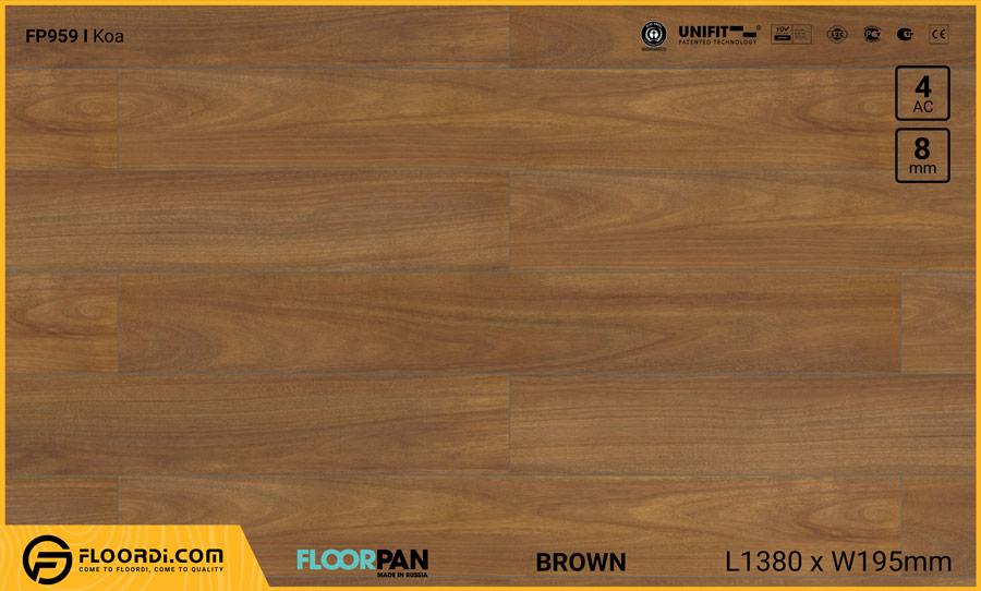 Sàn gỗ Floorpan FP959 Koa – 8mm – AC4