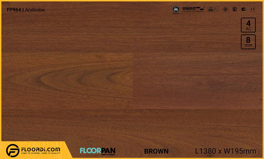 Sàn gỗ Floorpan FP964 Andiroba – 8mm – AC4