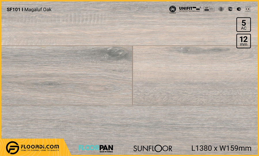 Sàn gỗ Floorpan SF101 Magaluf Oak – 12mm – AC5