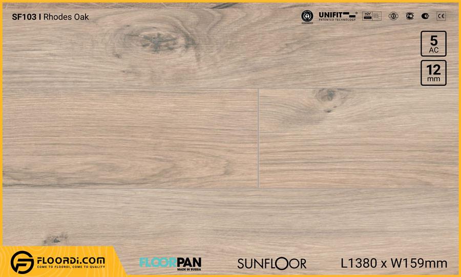 Sàn gỗ Floorpan SF103 Rhodes Oak – 12mm – AC5