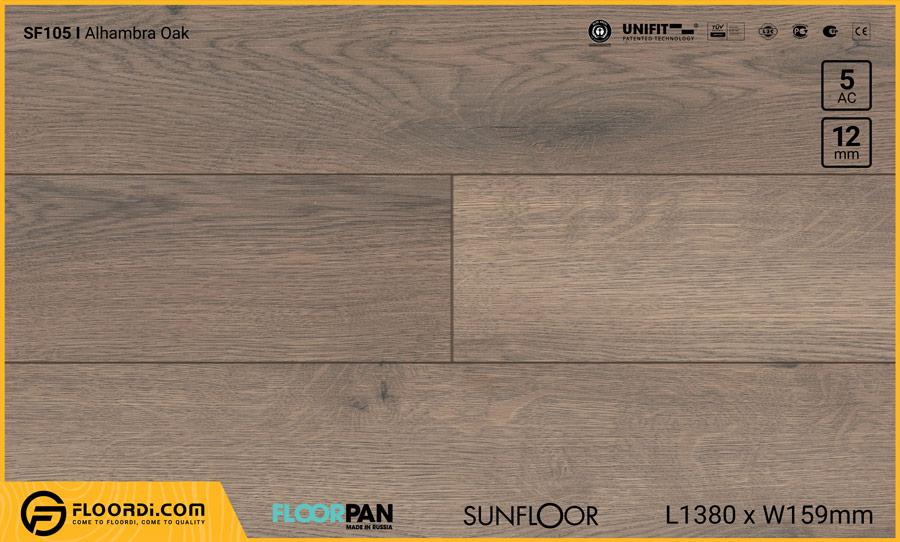 Sàn gỗ Floorpan SF105 Alhambra Oak – 12mm – AC5