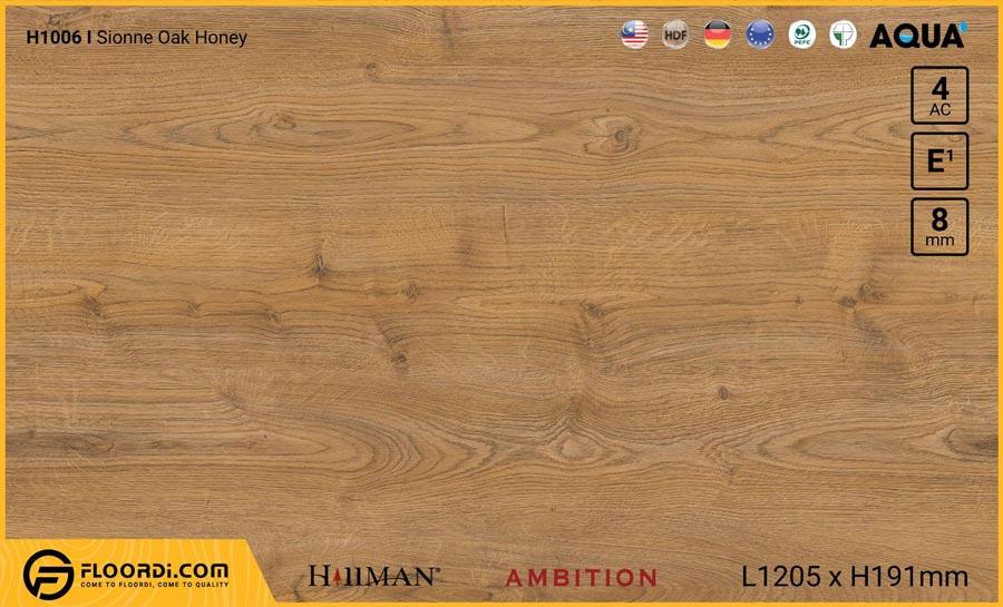 Sàn gỗ Hillman H1006 Sionne Oak Honey – 8mm – AC4