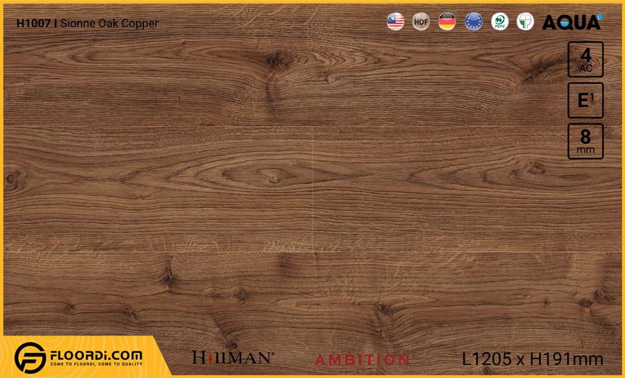 Sàn gỗ Hillman H1007 Sionne Oak Copper – 8mm – AC4