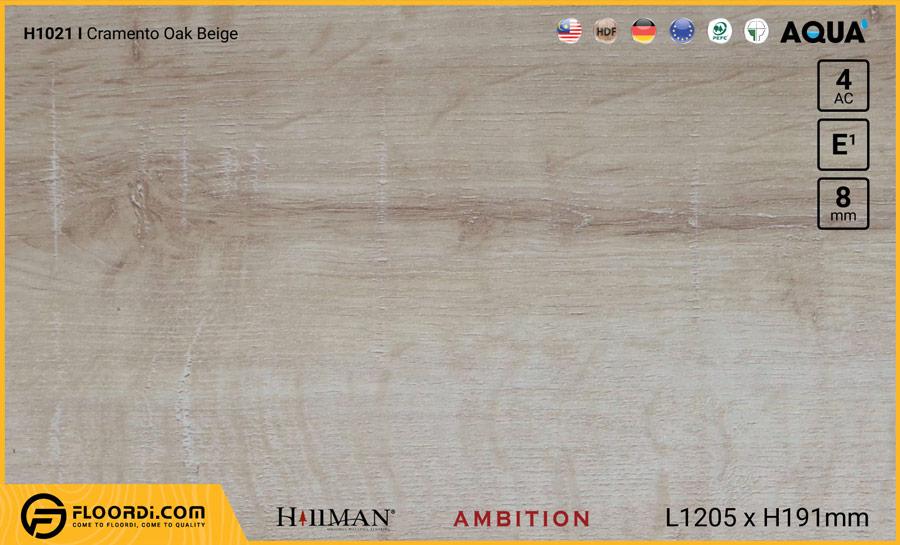 Sàn gỗ Hillman H1021 Scramento Oak Beige – 8mm – AC4