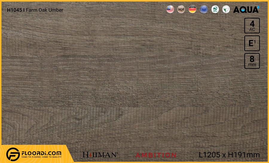 Sàn gỗ Hillman H1045 Farm Oak Umber – 8mm – AC4