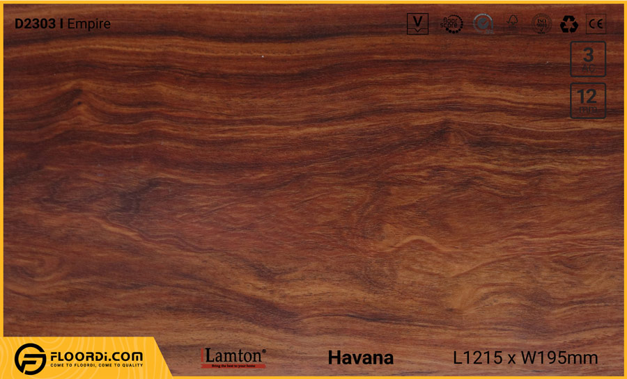 Sàn gỗ Lamton D2303 Empire – 12mm – AC3