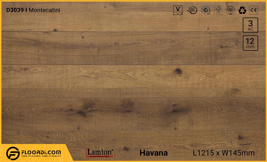 Sàn gỗ Lamton D3039 Montecatini – 12mm – AC3
