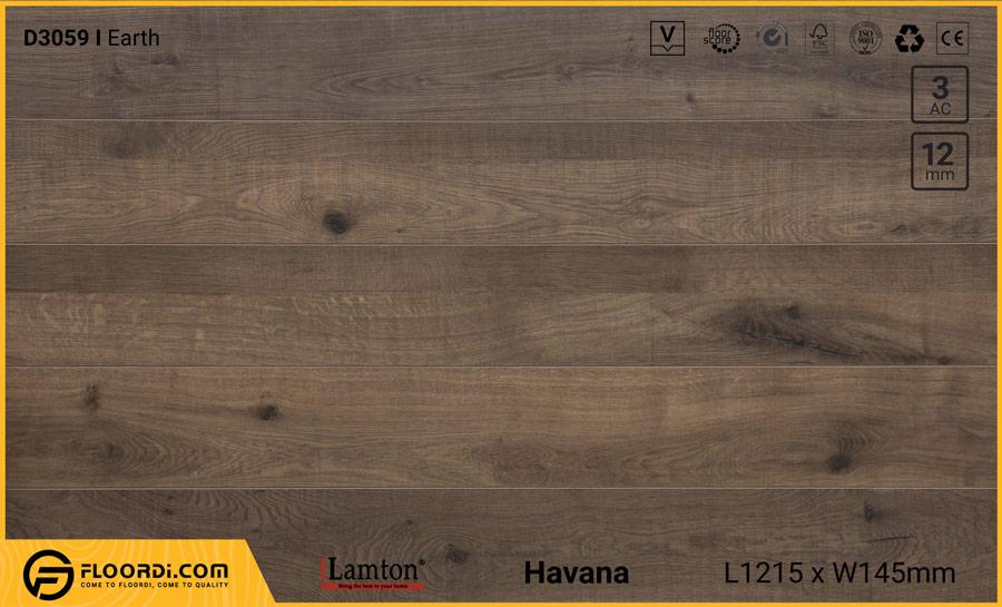Sàn gỗ Lamton D3059 Earth – 12mm – AC3