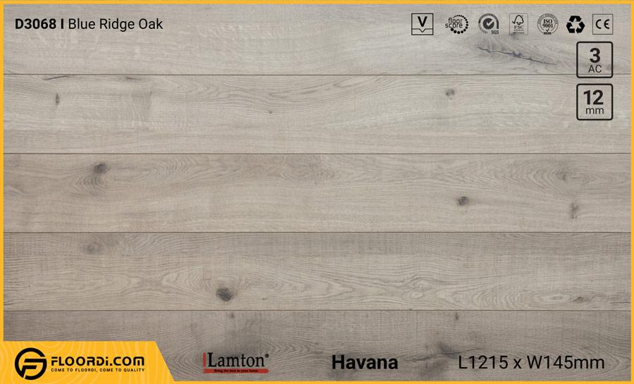 Sàn gỗ Lamton D3068 Blue Ridge Oak – 12mm – AC3
