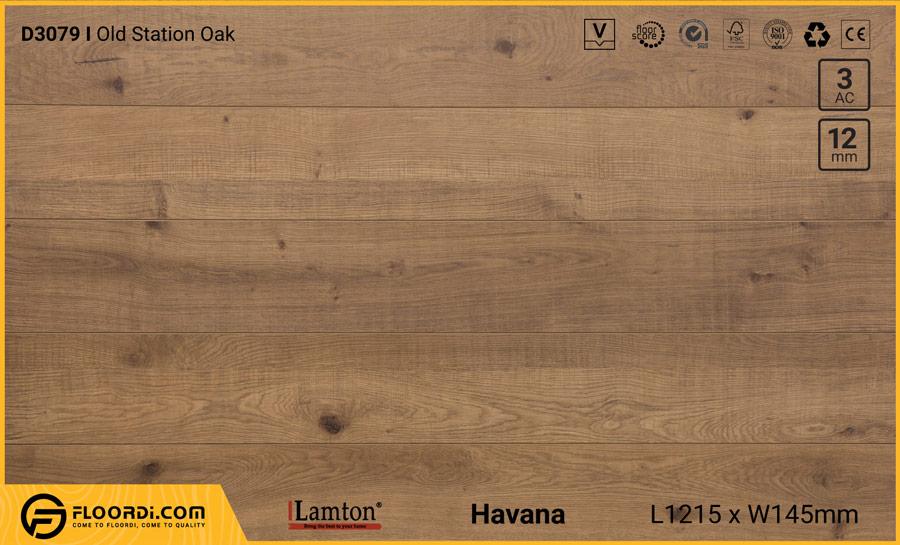 Sàn gỗ Lamton D3079 Old Station Oak – 12mm – AC3