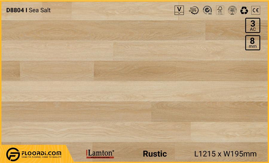Sàn gỗ Lamton D8804 Sea Salt – 8mm – AC3