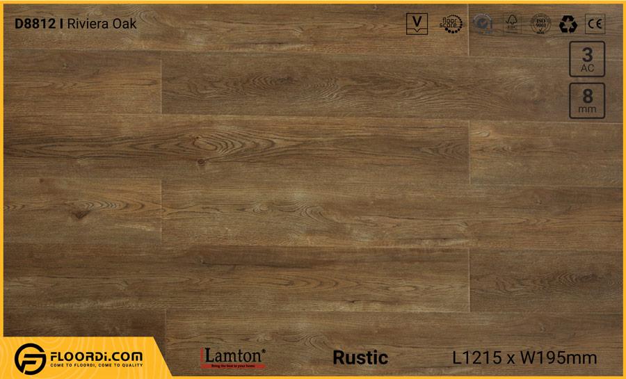 Sàn gỗ Lamton D8812 Riviera Oak – 8mm – AC3