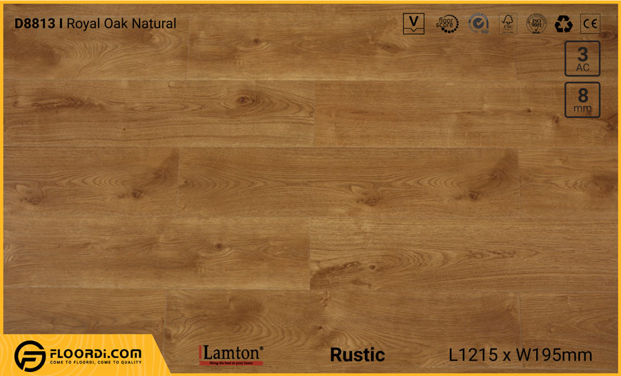 Sàn gỗ Lamton D8813 Royal Oak Natural – 8mm – AC3