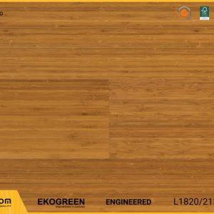 Sàn gỗ tre Engineered Ekogreen E6808 Dark Bamboo 13.5mm