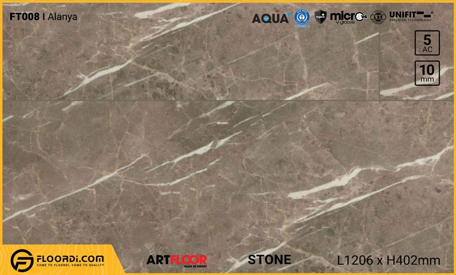 Sàn gỗ vân đá Artfloor FT008 Alanya – 10mm – AC5