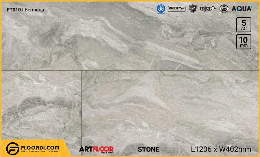 Sàn gỗ vân đá Artfloor FT010 Bermuda – 10mm – AC5