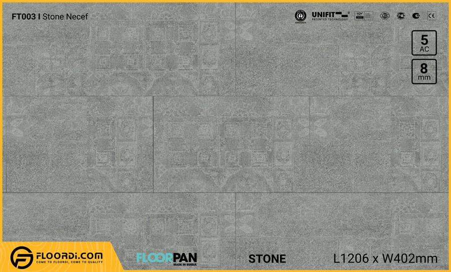 Sàn gỗ vân đá Floorpan FT003 Stone Necef – 8mm – AC5