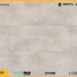 Sàn gỗ vân đá Floorpan FT004 Stone Beige Concrete - 8mm - AC5