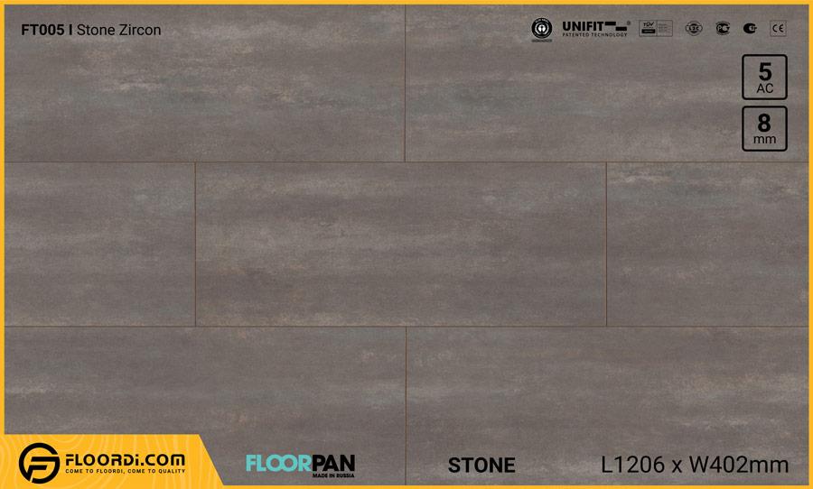 Sàn gỗ vân đá Floorpan FT005 Stone Zircon – 8mm – AC5