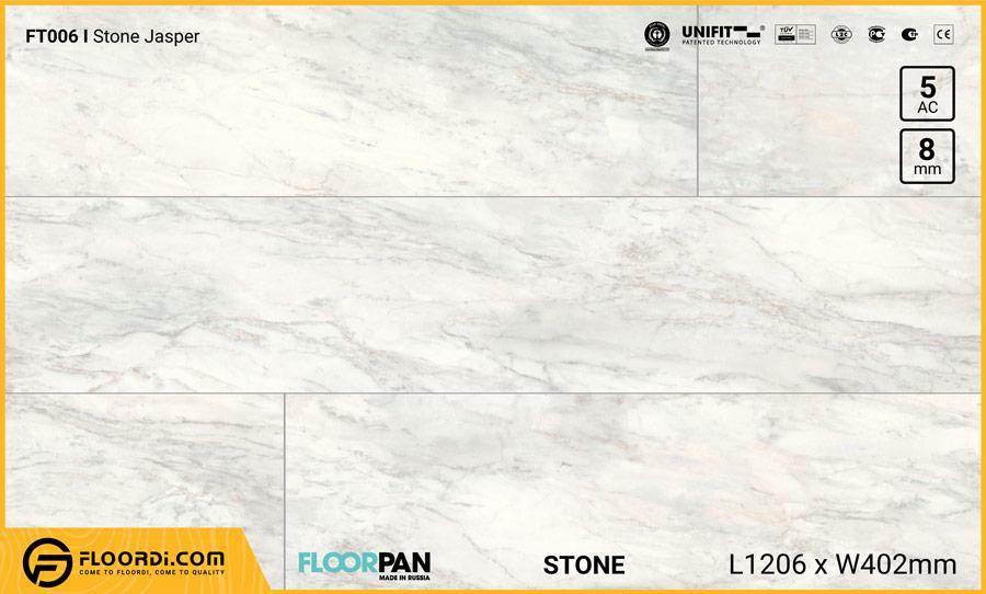 Sàn gỗ vân đá Floorpan FT006 Stone Jasper – 8mm – AC5