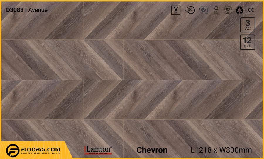Sàn gỗ xương cá Lamton D3083 Avenue Chevron 12mm – AC3