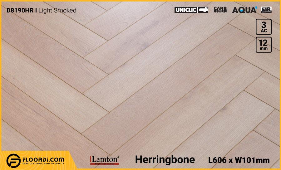 Sàn gỗ Xương Cá Lamton D8190HR Light Smoked – 12mm – AC3