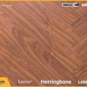 Sàn gỗ Xương Cá Lamton D8230HR Brown Parquet - 12mm - AC3