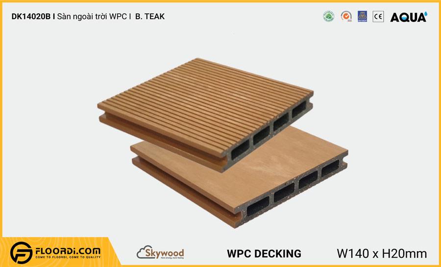 Sàn ngoài trời WPC Skywood B.Teak DK14020B