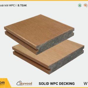 Sàn ngoài trời WPC Skywood B.Teak Solid DK14025SB