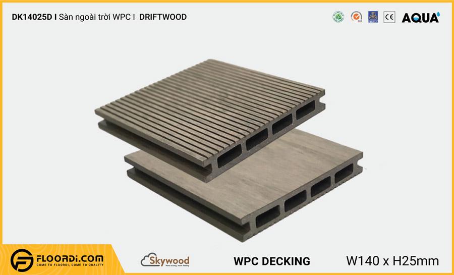 Sàn ngoài trời WPC Skywood Driftwood DK14025D