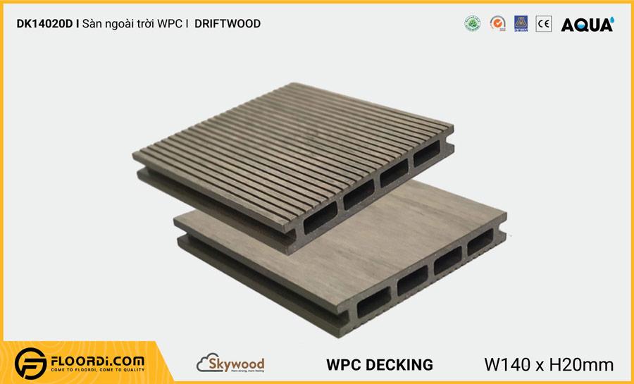 Sàn ngoài trời WPC Skywood Driftwood DK14020D