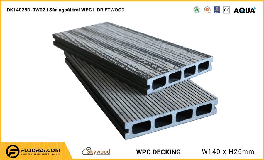Sàn ngoài trời WPC Skywood – Driftwood – DK14025D-RW02