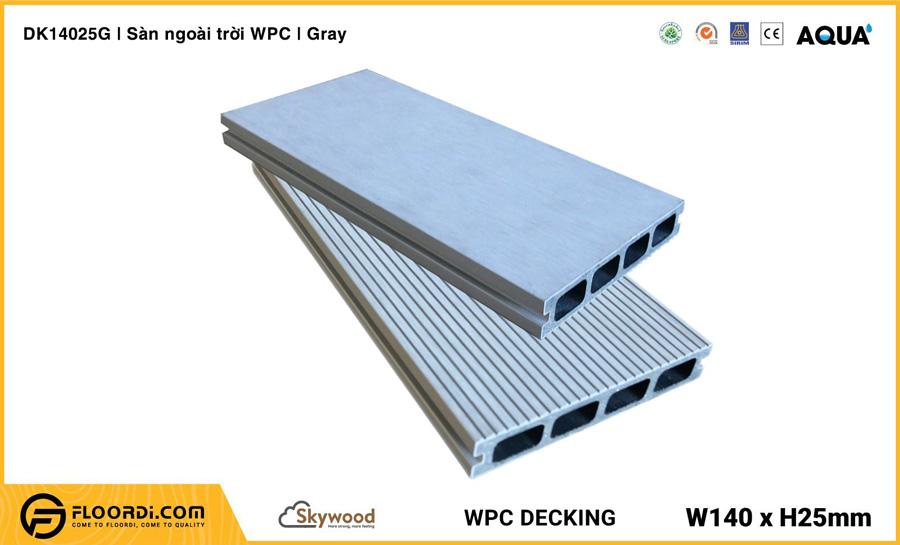 Sàn ngoài trời WPC Skywood Gray – DK14025G