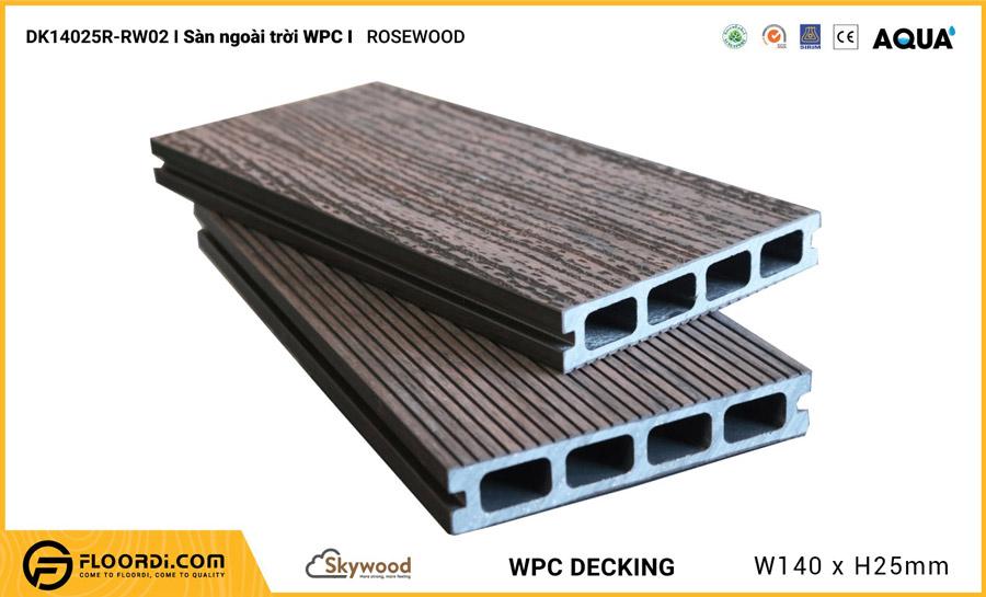 Sàn ngoài trời WPC Skywood – Rosewood – DK14025R-RW02