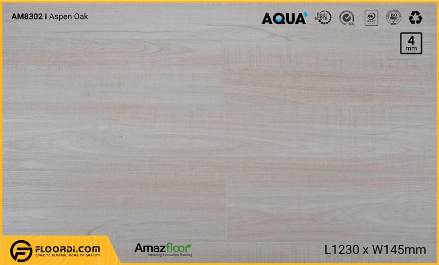 Sàn nhựa Amazfloor AM8302 Aspen Oak – 4mm
