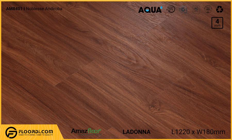 Sàn nhựa Amazfloor AM8401 Ladonna Noblesse Andiroba – 4mm