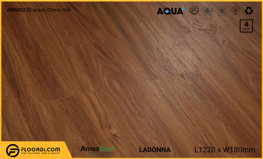 Sàn nhựa Amazfloor AM8402 Ladonna Canyon Cherry Oak – 4mm