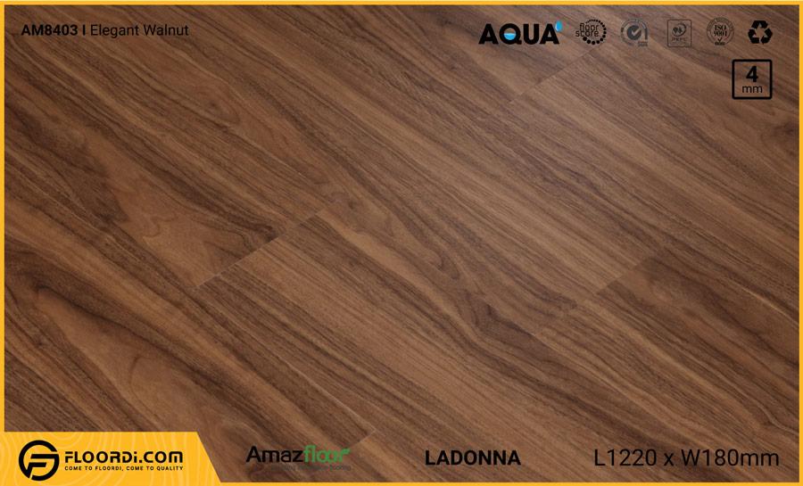 Sàn nhựa Amazfloor AM8403 Elegant Walnut – 4mm