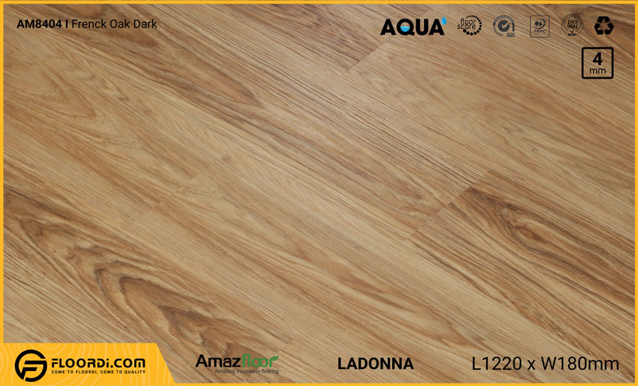 Sàn nhựa Amazfloor AM8404 Ladonna Frenck Oak Dark – 4mm