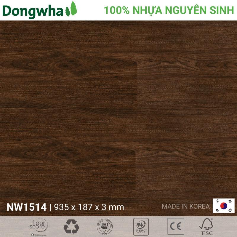 Sàn nhựa Dongwha NW1514 Natural Wood – 3mm